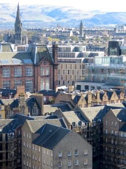 Rooftops of Edinburgh Scotland - by Anika Mikkelson - Miss Maps - www.MissMaps.com