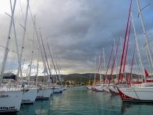 Sailboats in Trogir Croatia - by Anika Mikkelson - Miss Maps - www.MissMaps.com