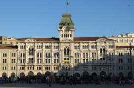 School Celebration in Trieste's Main Square - Trieste Italy - by Anika Mikkelson - Miss Maps - www.MissMaps.com