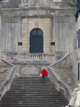 Shame Steps in Dubrovnik Croatia - by Anika Mikkelson - Miss Maps - www.MissMaps.com
