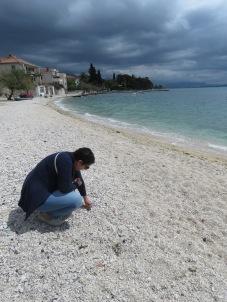 She sells sea shells in Kastela Croatia - by Anika Mikkelson - Miss Maps - www.MissMaps.com
