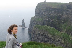 Sitting on the edge -The Cliffs of Moher - Ireland - by Anika Mikkelson - Miss Maps - www.MissMaps.com