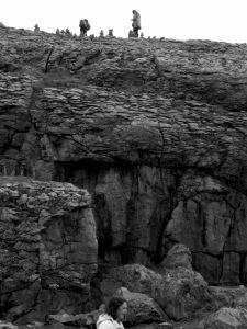 Stacking Rocks in Burren Ireland - Shamrocker Adventure Tours - by Anika Mikkelson - Miss Maps - www.MissMaps.com