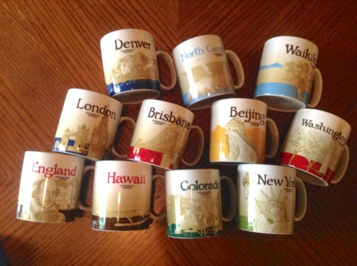 Starbucks Mugs - Another Friend's Collection