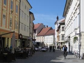 Streets of Ljubljana Slovenia - by Anika Mikkelson - Miss Maps - www.MissMaps.com