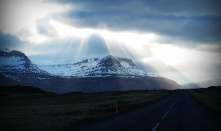 Sun Rays - Northern Iceland - by Anika Mikkelson - Miss Maps - www.MissMaps.com