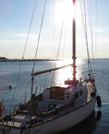 Sunny Sailboats - Trieste Italy - by Anika Mikkelson - Miss Maps - www.MissMaps.com