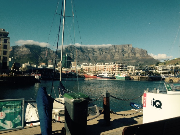 Table Mountain with the Table Cloth across the top - by Kirsty Mullahy - MissMaps.com Featured Female Traveler