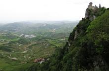 Takes your breath away - Guaita Tower in San Marino - by Anika Mikkelson - Miss Maps - www.MissMaps.com