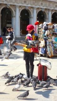 The Bird Lady of Venice Italy - by Anika Mikkelson - Miss Maps - www.MissMaps.com