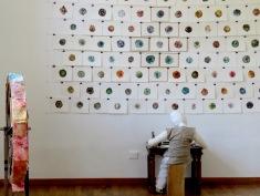 The hostel also features an art gallery - Hotel Celiac Ljubljana Slovania - by Anika Mikkelson - Miss Maps - www.MissMaps.com