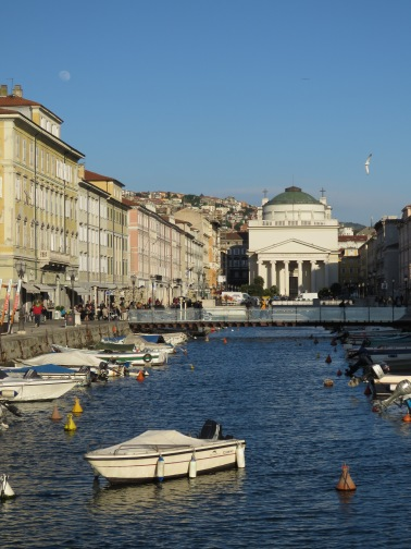The Moon over Trieste Italy - by Anika Mikkelson - Miss Maps - www.MissMaps.com