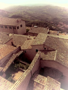 Tiled Roofs of San Marino - by Anika Mikkelson - Miss Maps - www.MissMaps.com