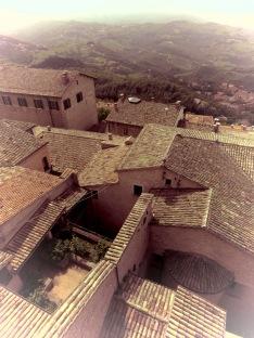 Tiled Roofs of San Marino - by Anika Mikkelson - Miss Maps - www.MissMaps.com