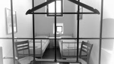 Tis a hostel, hotel, jail cell, or insane assylum - You choose - Hotel Celiac Ljubljana Slovania - by Anika Mikkelson - Miss Maps - www.MissMaps.com