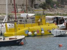 Yellow Submarine in Dubrovnik Croatia - by Anika Mikkelson - Miss Maps - www.MissMaps.com