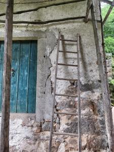 Abandoned home - Abandoned Ladder at Vizir - Slovenia - by Anika Mikkelson - Miss Maps - www.MissMaps.com