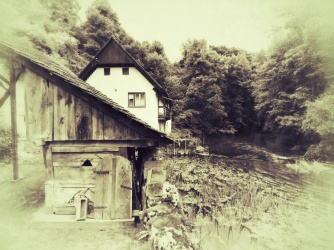 Abandoned House and Barn at Vizir - Slovenia - by Anika Mikkelson - Miss Maps - www.MissMaps.com