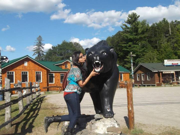 At a roadside stop in northern Ontario, Canada - by Samita Sarkar - Miss Maps Featured Female Traveler