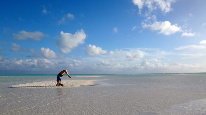 Bahamas - Beach Yoga - by Kristen Breunig - Miss Maps Featured Female Traveler