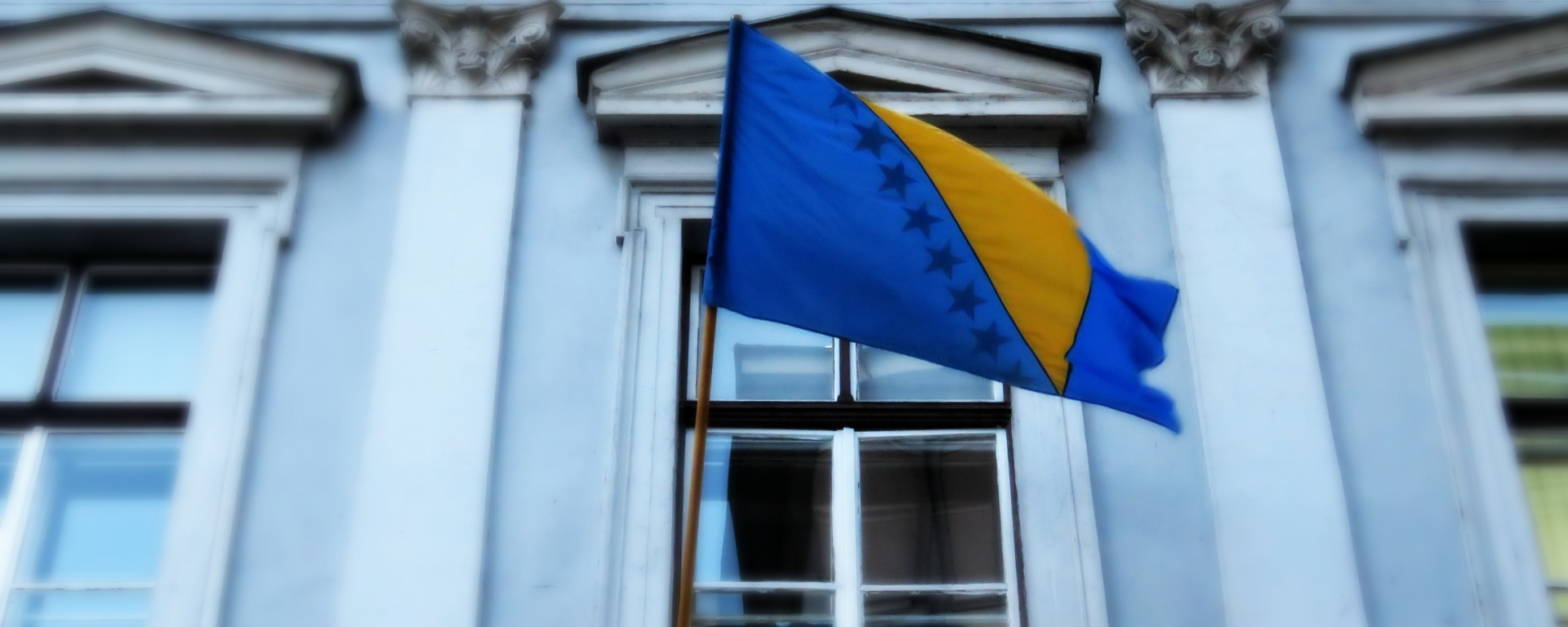 Bosnia and Herzegovina Flag - Sarajevo BiH - by Anika Mikkelson - Miss Maps - www.MissMaps.com