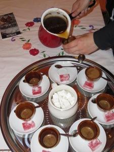 Bosnian Coffee and Rahat Lakum - Lukomir Bosnia and Herzegovina - by Anika Mikkelson - Miss Maps - www.MissMaps.com