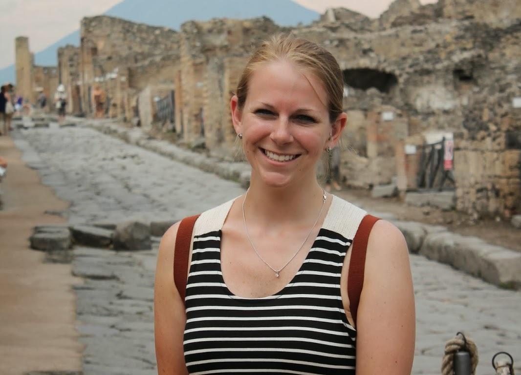 Erin in Pompeii - Miss Maps Featured Female Traveler