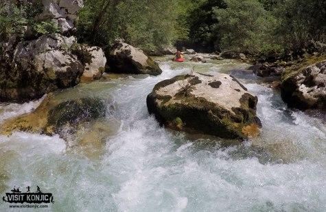 Headed Straight for the rock - Rakitnica River - Bosnia and Herzegovina BiH - photo by VisitKonjic.com