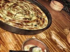 Homemade Spinach Pie at Lukomir - Bosnia and Herzegovina - by Anika Mikkelson - Miss Maps www.MissMaps.com