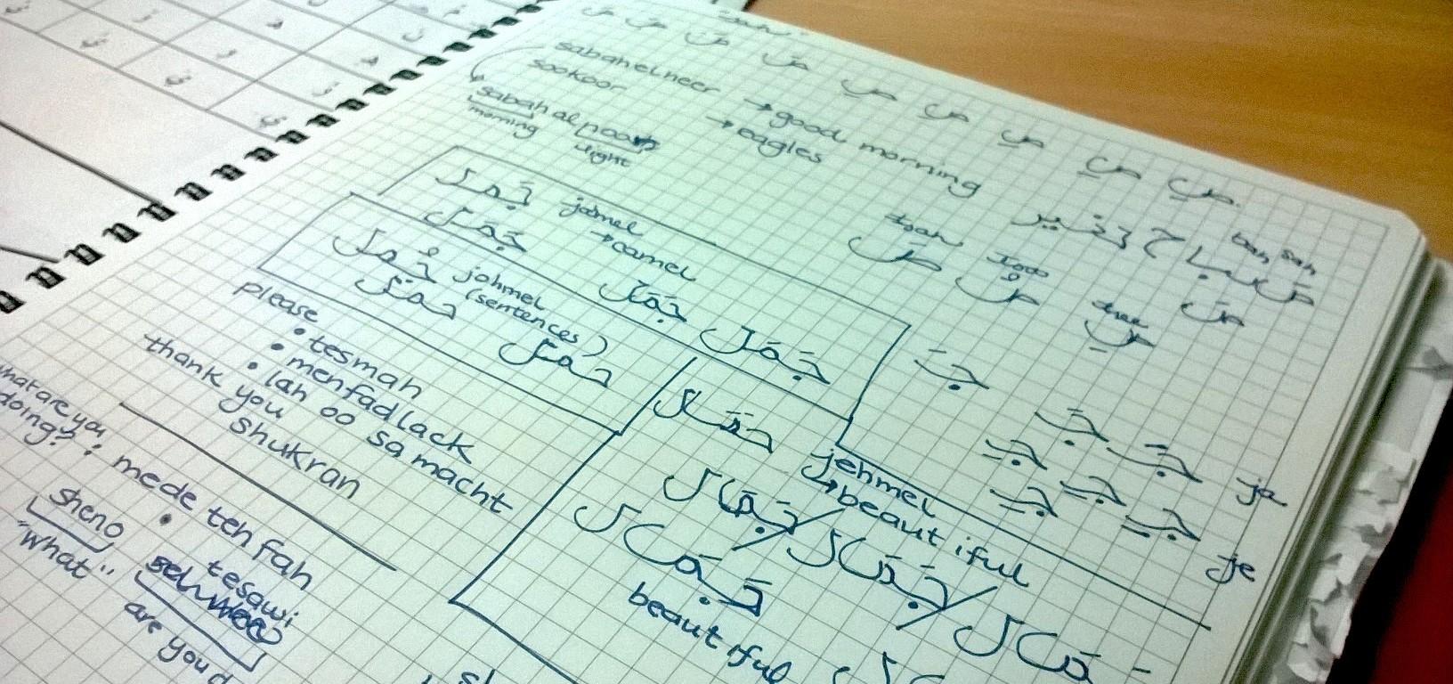 Learning Arabic in Kuwait - Anika Mikkelson - Miss Maps - www.MissMaps.com