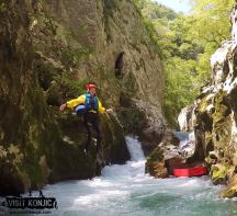 Making the Jump - Canyoning on Rakitnica River - Bosnia and Herzegovina BiH - photo by VisitKonjic.com