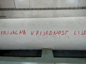 Material Value of Laziness - Tito's Bunker - Konjic Bosnia and Herzegovina - by Anika Mikkelson - Miss Maps - www.MissMaps.com