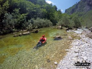 Our guide - Like a fish - Canyoning on Rakitnica River - Bosnia and Herzegovina BiH - photo by VisitKonjic.com