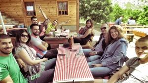 Our Lunch Crew - Lukomir Bosnia and Herzegovina BiH - by Anika Mikkelson - Miss Maps - www.MissMaps.com
