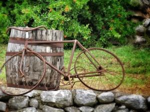 Rustic Bike at Marica Gaj - Bosnia and Herzegovina - - Bosnia and Herzegovina - by Anika Mikkelson - Miss Maps - www.MissMaps.com