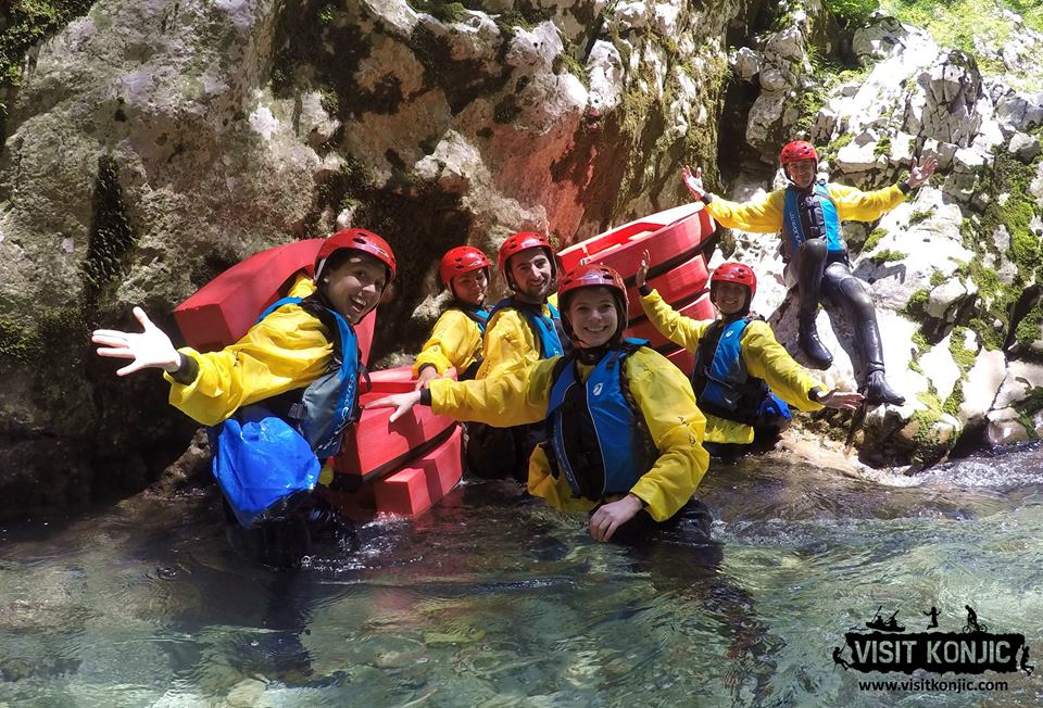 So excited - Canyoning on Rakitnica River - Bosnia and Herzegovina BiH - photo by VisitKonjic.com