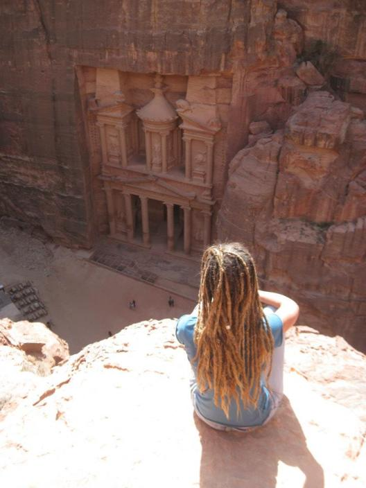 Sue in Petra Jordan - photo provided by Sue Bedford - MissMaps.com Featured Female Traveler