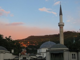 Sundown on Sarajevo BiH - by Anika Mikkelson - Miss Maps - www.MissMaps.com