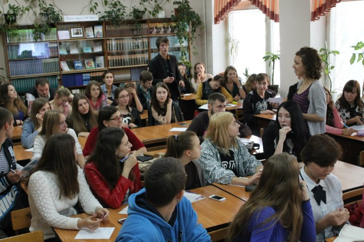 Teaching English in Ukraine - (I'm in the purple and gray) - Anika Mikkelson - Miss Maps - MissMaps.com