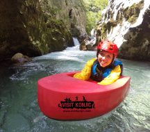 That's Miss Maps Canyoning on Rakitnica River - Bosnia and Herzegovina BiH - photo by VisitKonjic.com