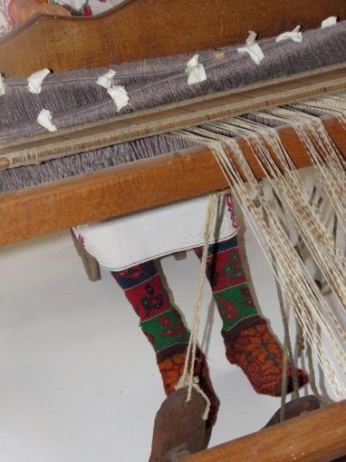 Weaving and Modeled Socks -Konjic Bosnia and Herzegovina - by Anika Mikkelson - Miss Maps - www.MissMaps.com