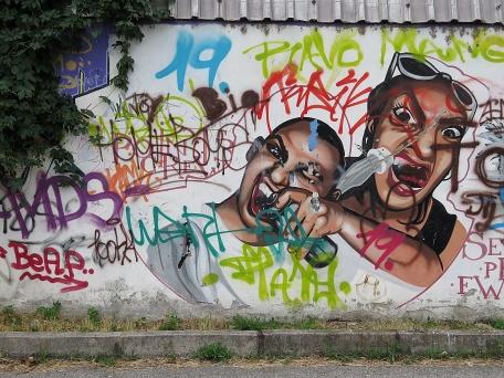 Eating Spraypaint - Nitra Slovakia - by Anika Mikkelson - Miss Maps - www.MissMaps.com