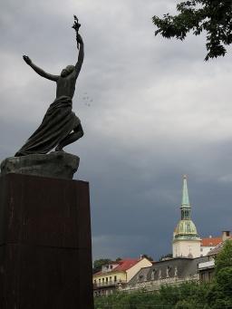 Freedom Flies - Bratislava Slovakia - by Anika Mikkelson - Miss Maps - www.MissMaps.com