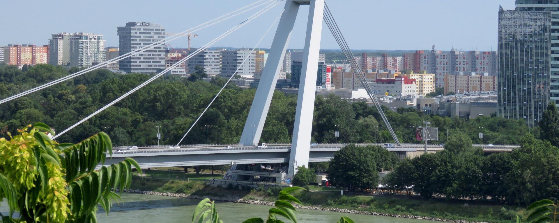 Most SNP - The UFO Bridge of Bratislava Slovakia - by Anika Mikkelson - Miss Maps - www.MissMaps.com