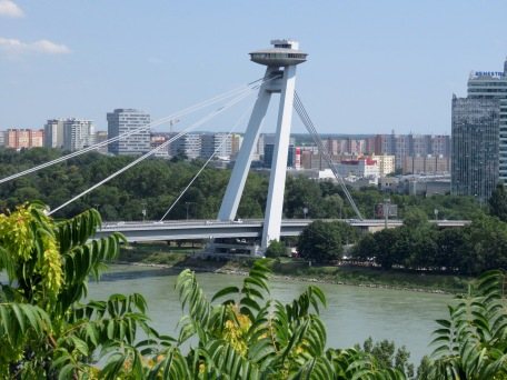 Most SNP - The UFO Bridge of Bratislava Slovakia - by Anika Mikkelson - Miss Maps - www.MissMaps.com