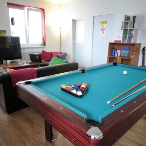 Nitra Glycerin Hostel's main room - Nitra Slovakia - by Anika Mikkelson - Miss Maps - www.MissMaps.com
