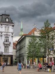 Old Town's Main Square - Bratislava Slovakia - by Anika Mikkelson - Miss Maps - www.MissMaps.com