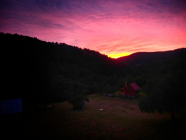 The Cabin in an Ultra Saturated Sunset - Slovakia - by Anika Mikkelson - Miss Maps - www.MissMaps.com