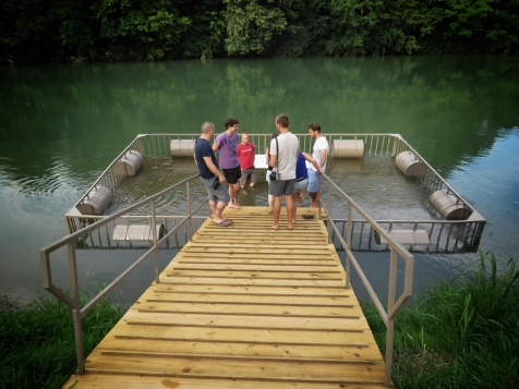 Ready for wine tasting in Big Berry's purposefully sinking deck - Slovenia - by Anika Mikkelson - Miss Maps - www.MissMaps.com