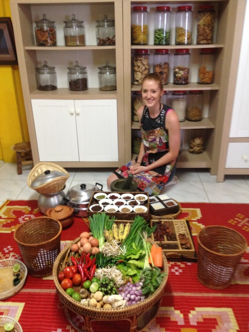 Sally at a local cooking class in Bangkok - MissMaps.com Featured Female Traveler